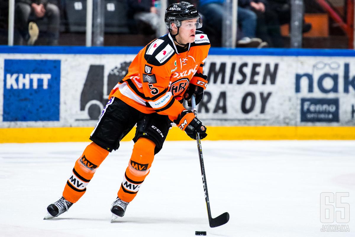 Jesper Lindgrenistä on tullut HPK:n luottopakkeja.
