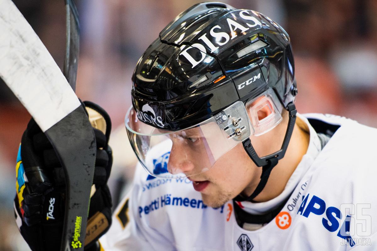 Jasse Ikonen oli yksi vierasjoukkueen sankareista.
