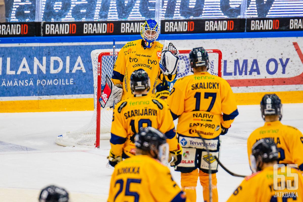 Lassi Lehtinen oli joukkueensa viimeinen lukko.