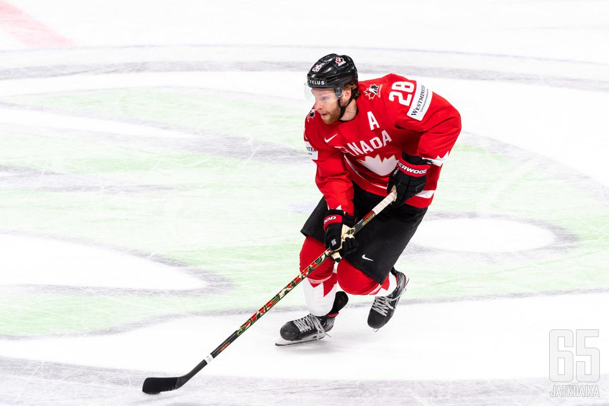 Connor Brown oli ottelun hahmoja tänään. Kanada ei kuitenkaan voi juhlia täysin vapautuneesti, sillä jatkopaikka ei ole enää omissa käsissä.