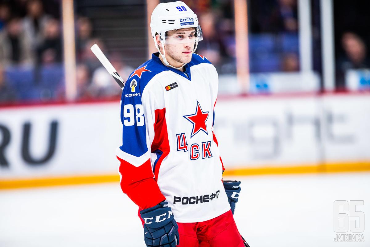 Maksim Mamin on pitkäaikainen TsSKA-hyökkääjä, joka kävi koittamassa myös NHL:n puolella.