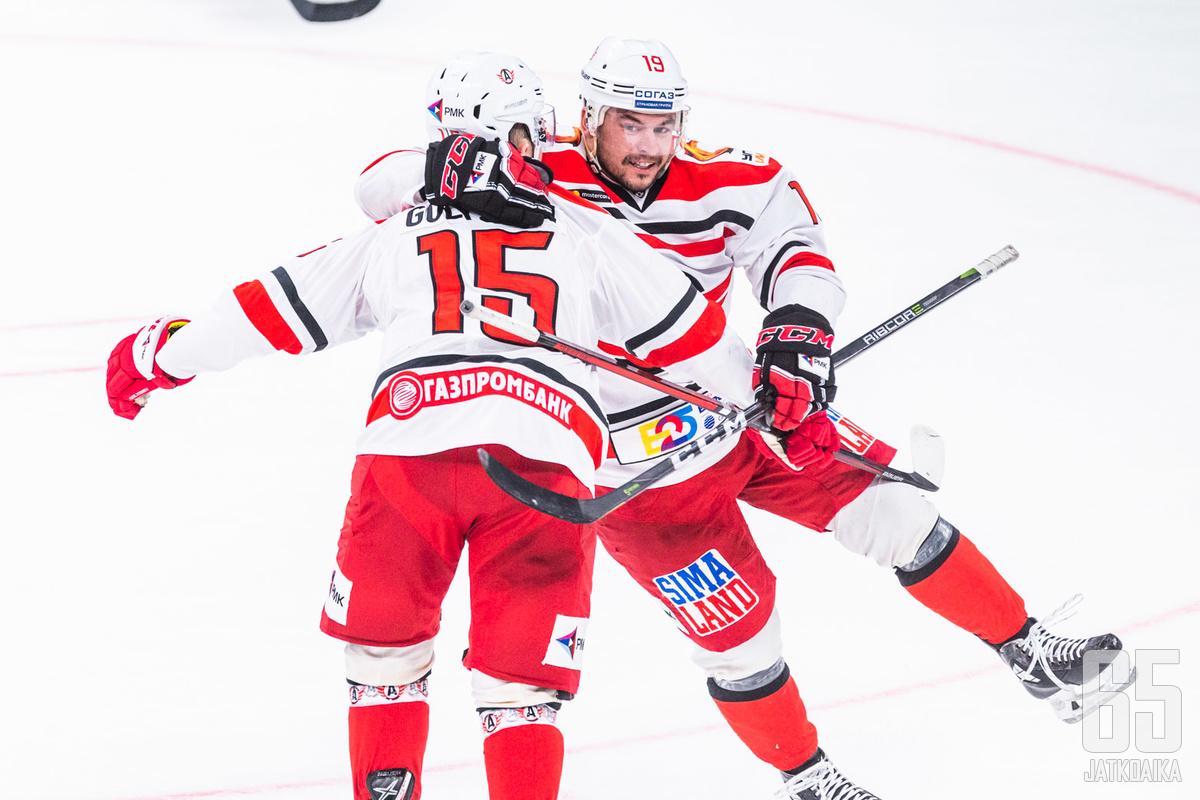 Avtomobilistia edustanut Golišev juhli useasti maalia KHL-kaukaloissa.