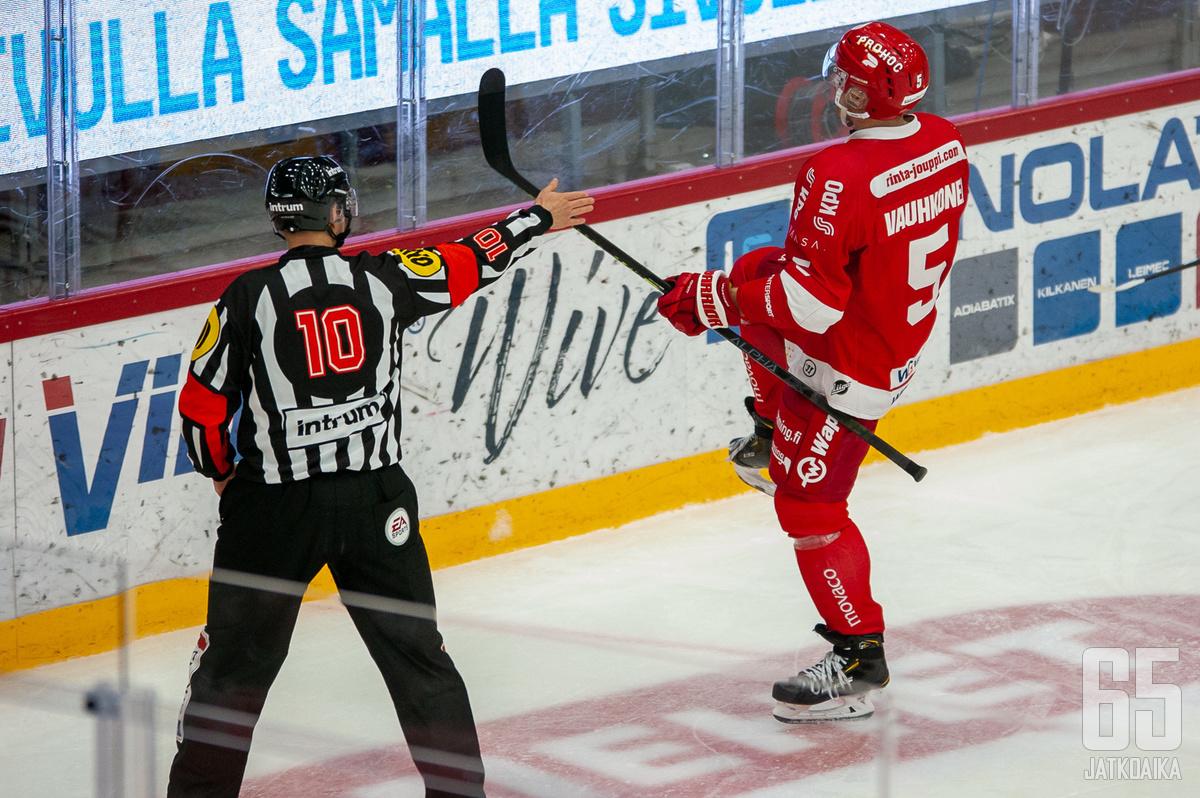 Olavi Vauhkonen iski ottelun voittomaalin.