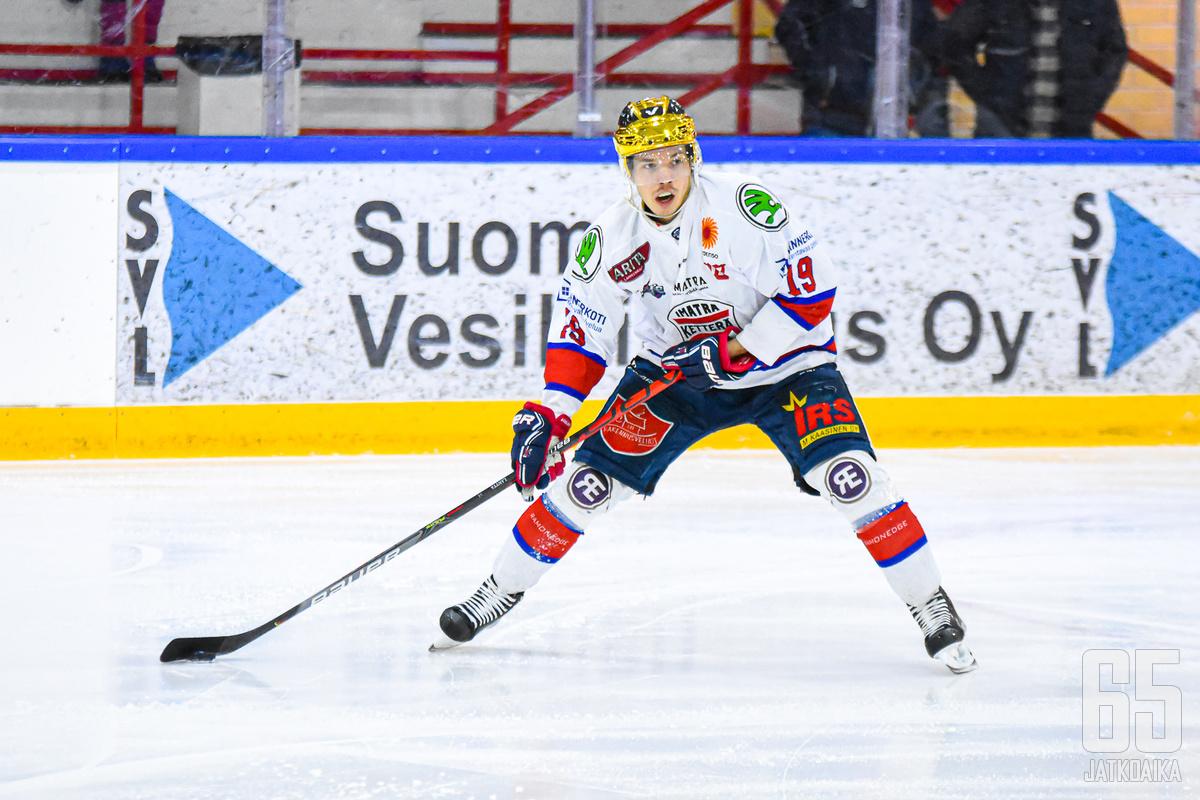 Imatran Ketterän Jaakko Lantta valittiin Mestis-kauden 2019-2020 parhaaksi hyökkääjäksi.