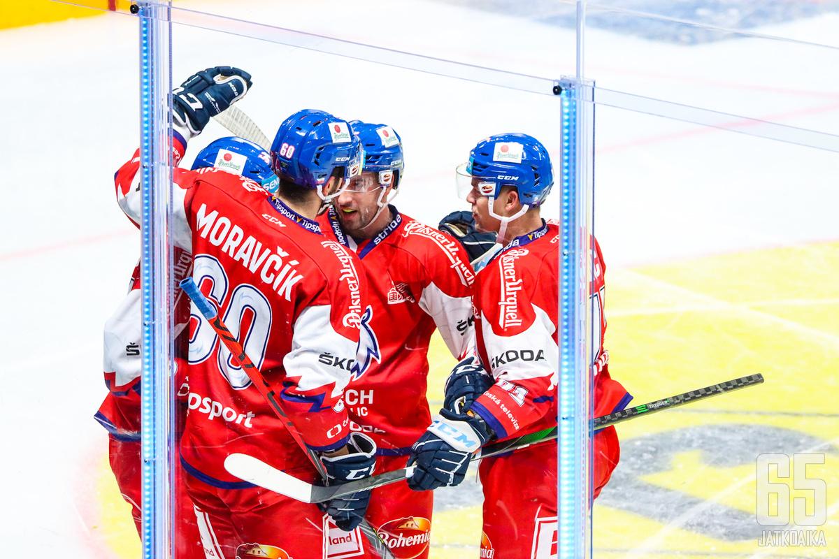 Tšekki luottaa Ruotsin EHT:lla lukuisiin Liiga-pelaajiin.