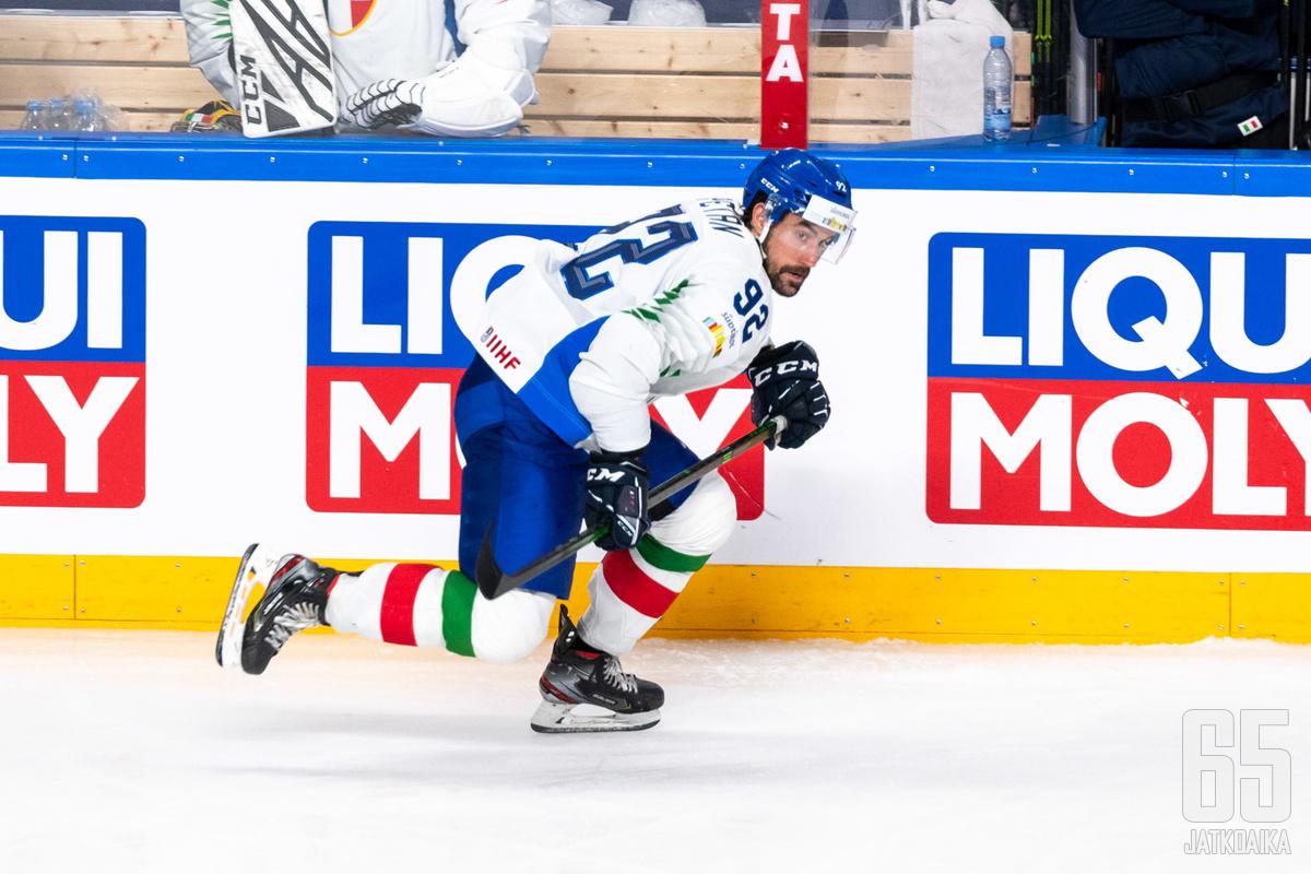 Alex Petan edustaa Italiaa.