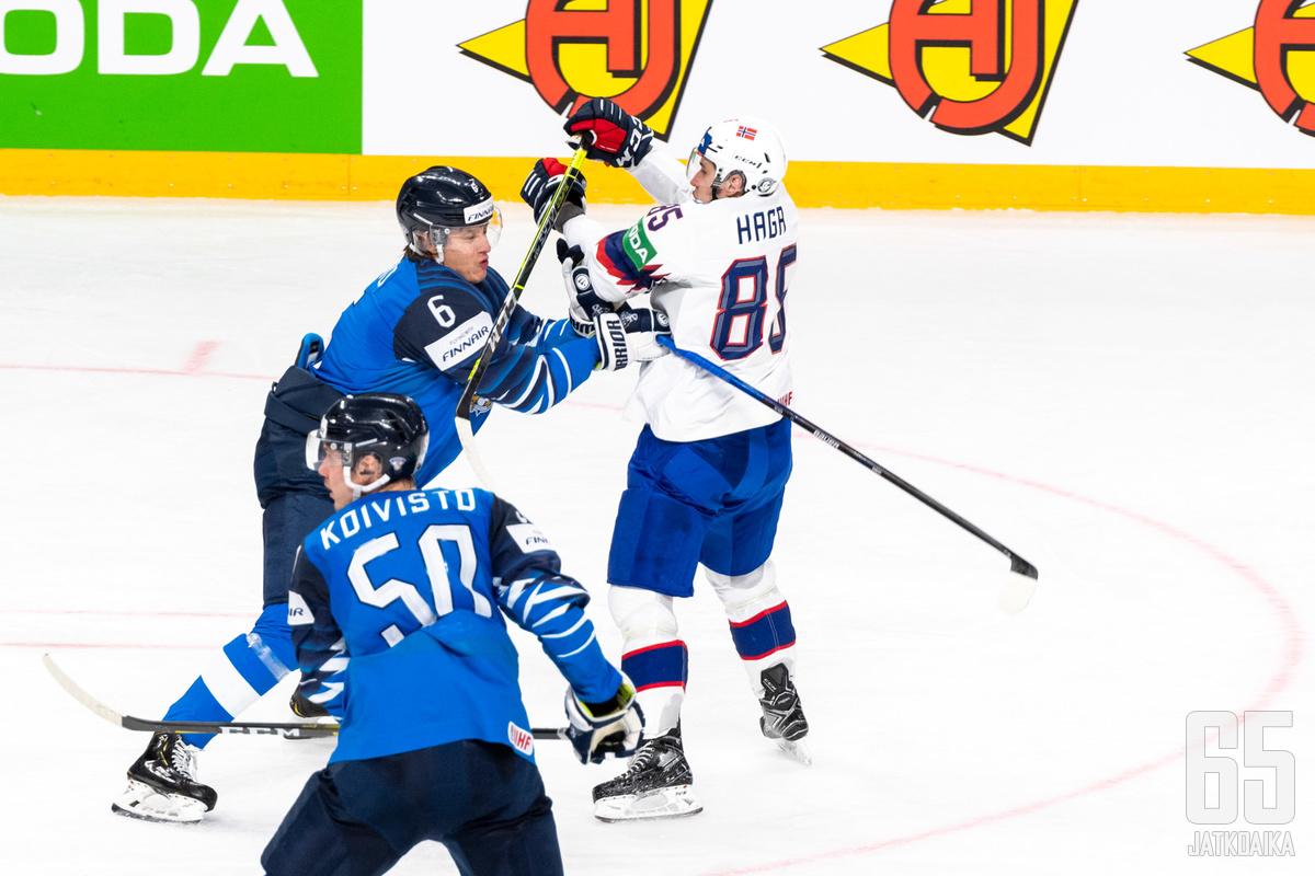 Hagalla on vyöllään yli 70 maaottelua Norjan paidassa.