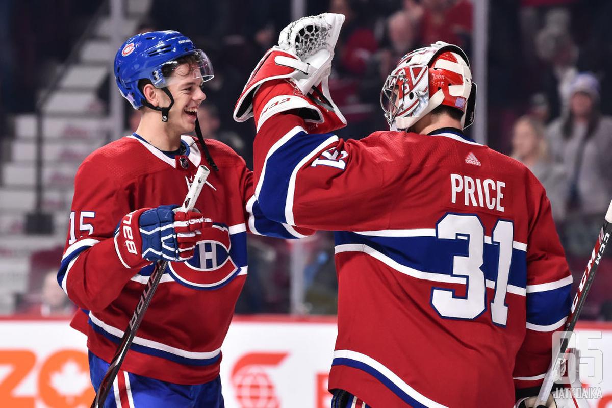 Jesperi Kotkaniemen on noustava Carey Pricen tukijoukkoihin Canadiensin luottomieheksi.