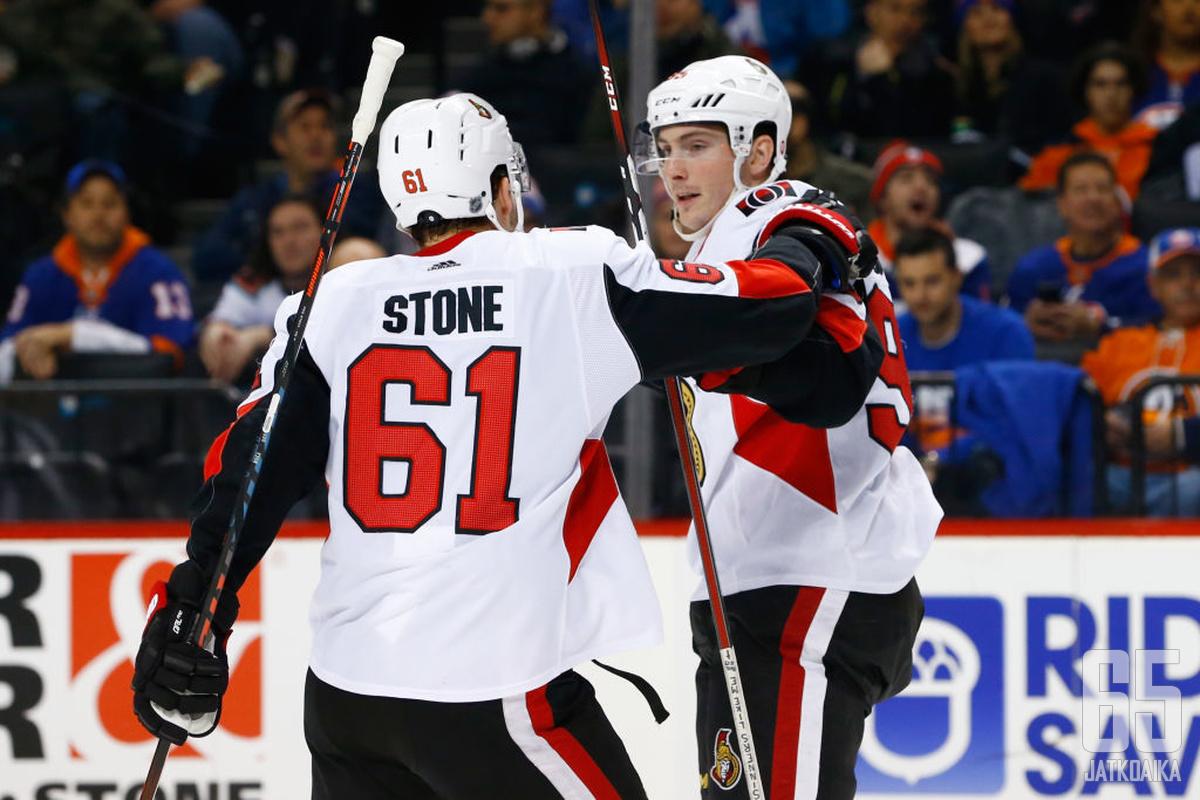 Mark Stone ja Matt Duchene saattavat pelata viimeisiä pelejään yhdessä.