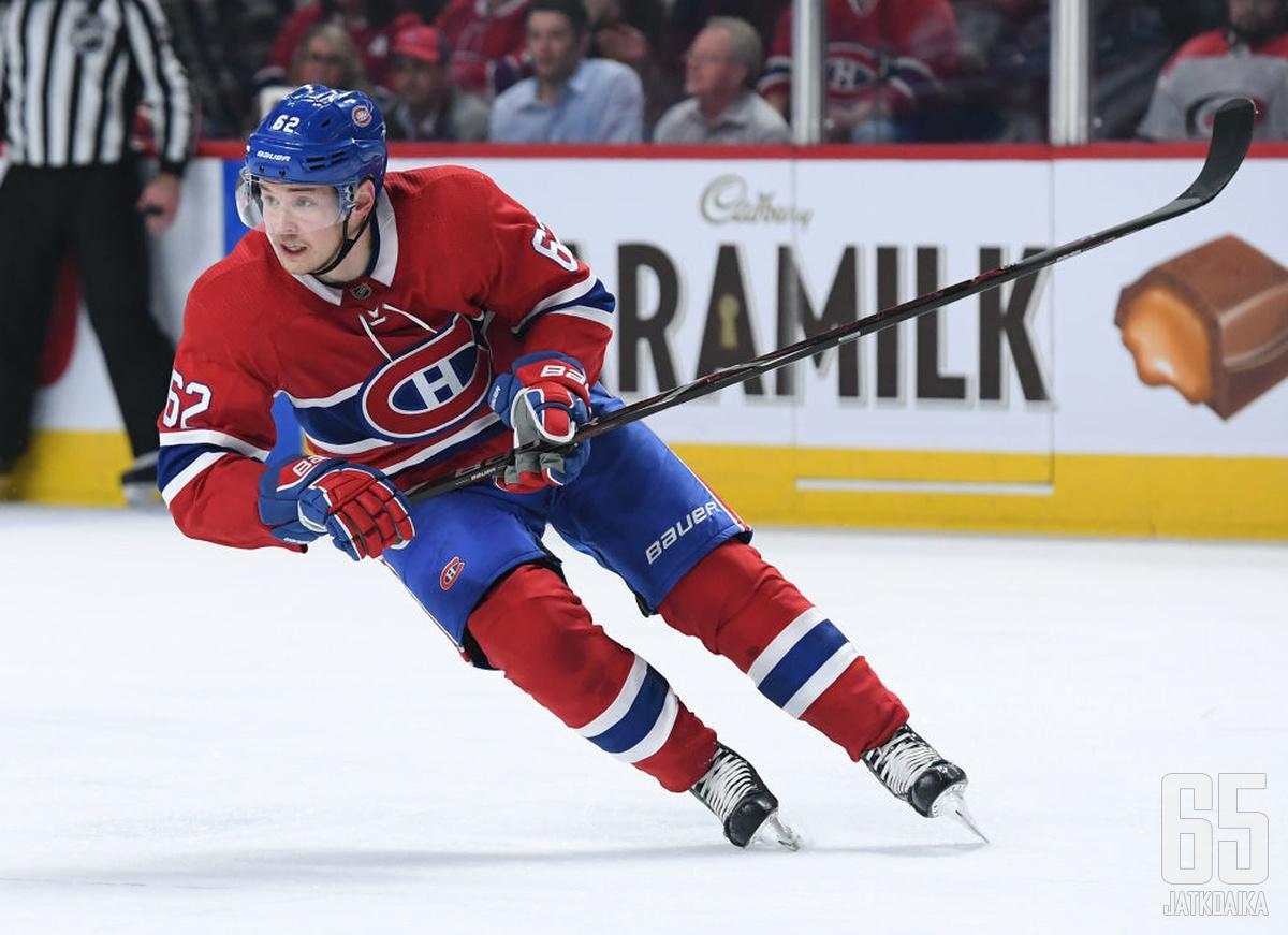 Artturi Lehkonen on jo tuttu näky Canadiensissa.
