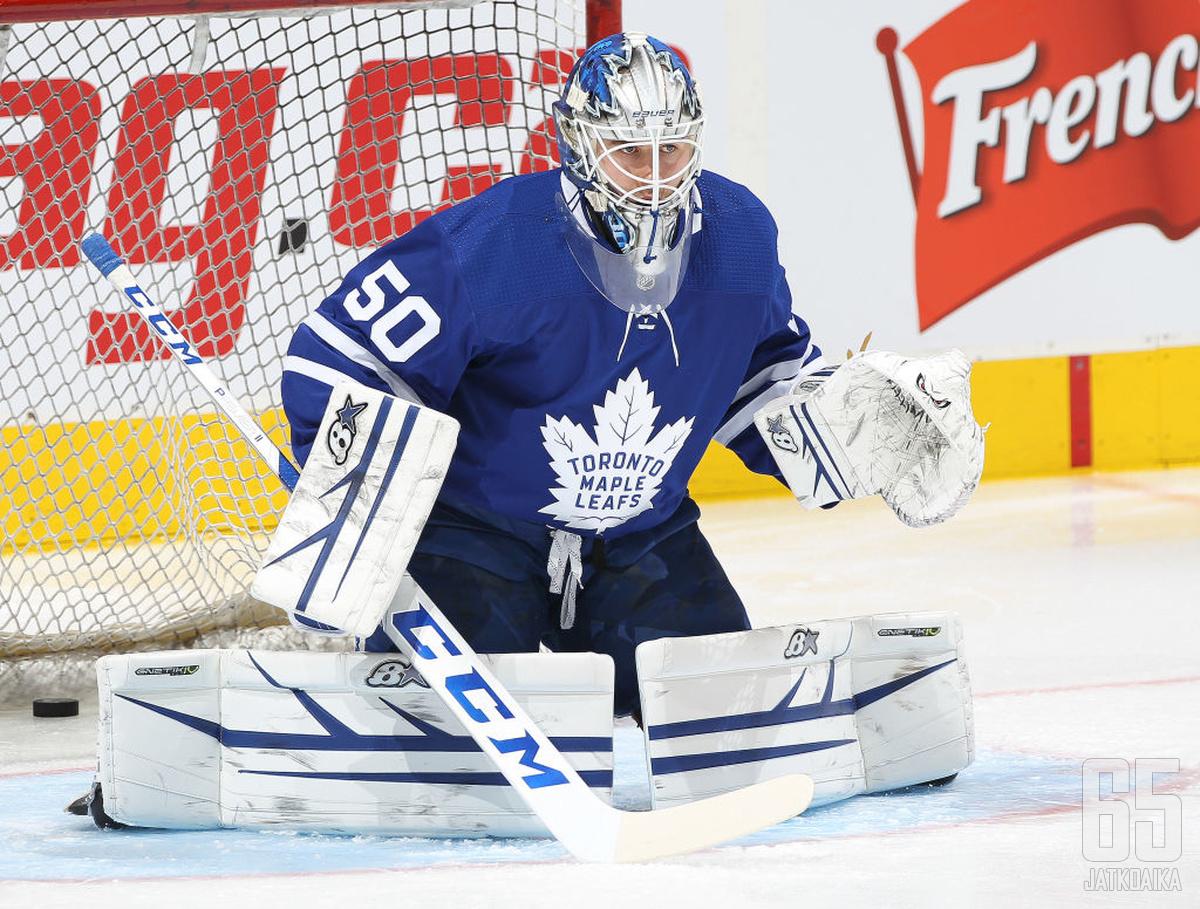 Kaskisuo on yksi Leafsin neljästä maalivahdista NHL-kuplassa.