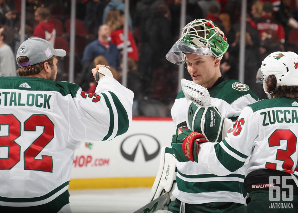 Kaapo Kähkönen haluaa napsia lisää voittoja NHL:ssä.