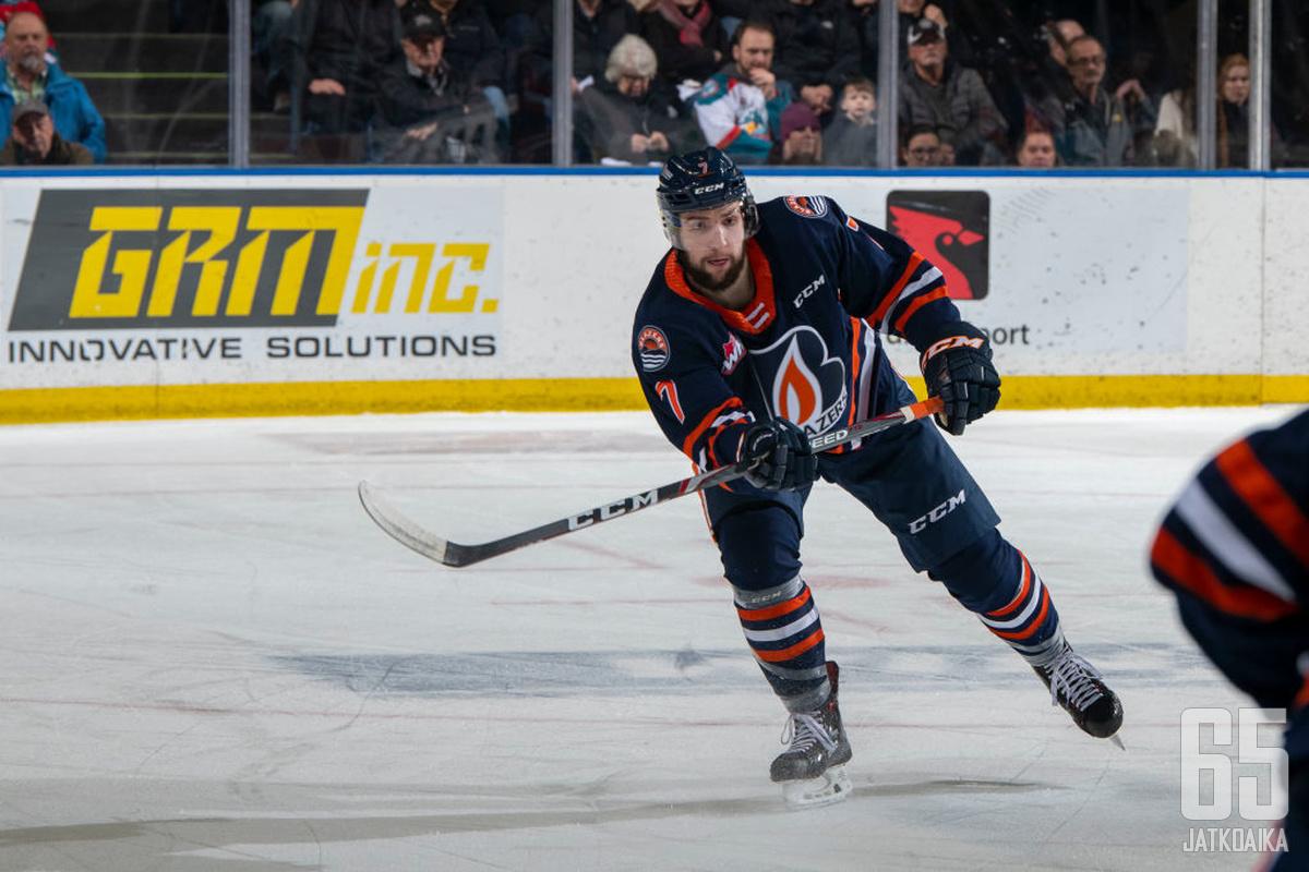 Zabransky pelasi WHL:ssä Kamloops Blazersissä kaudella 2019-2020.
