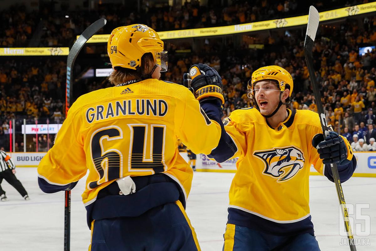 Valmentajavaihdoksen jälkeen Granlund pääsi tuulettamaan entistä useammin.