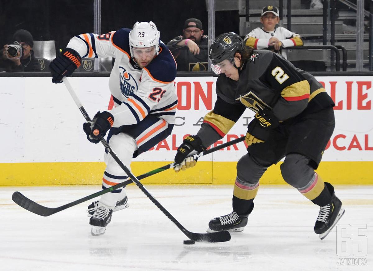 Edmonton Oilers ja Vegas Golden Knights ovat divisioonansa varmimmat pudotuspelijoukkueet.