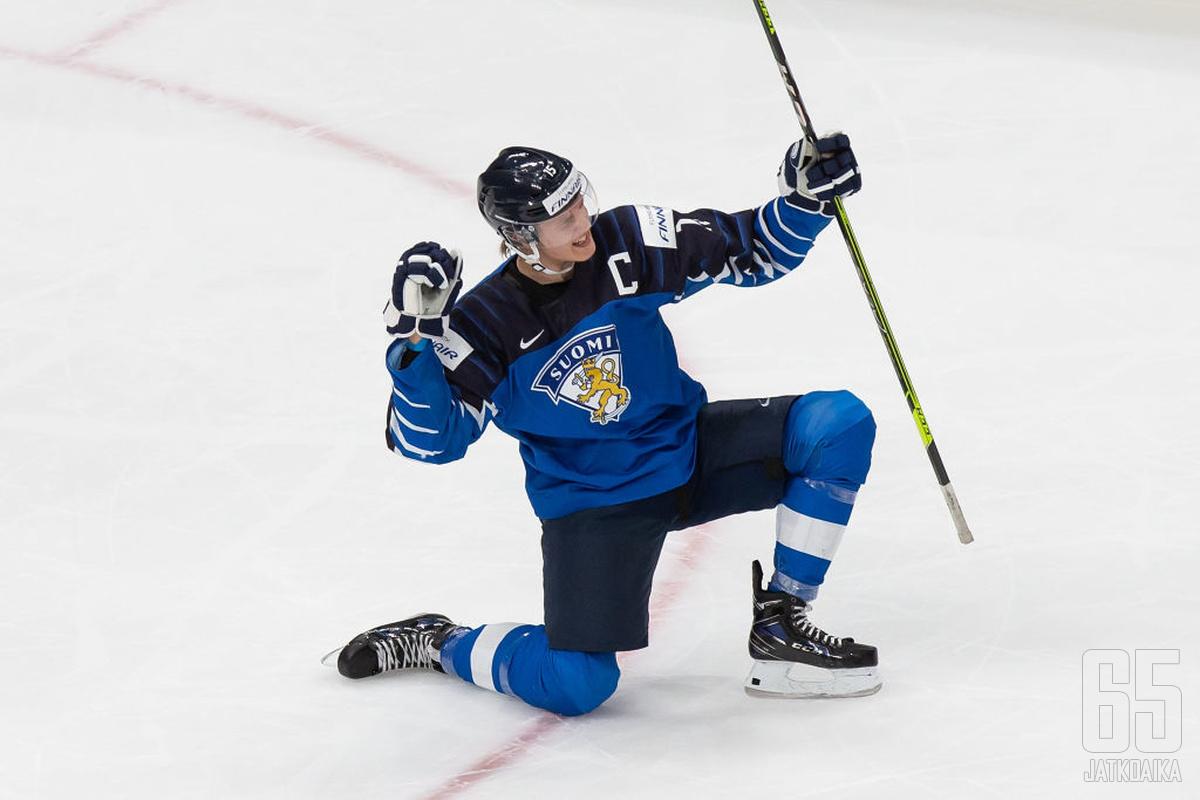 Anton Lundell oli Suomen hyökkäyksen johtotähti.