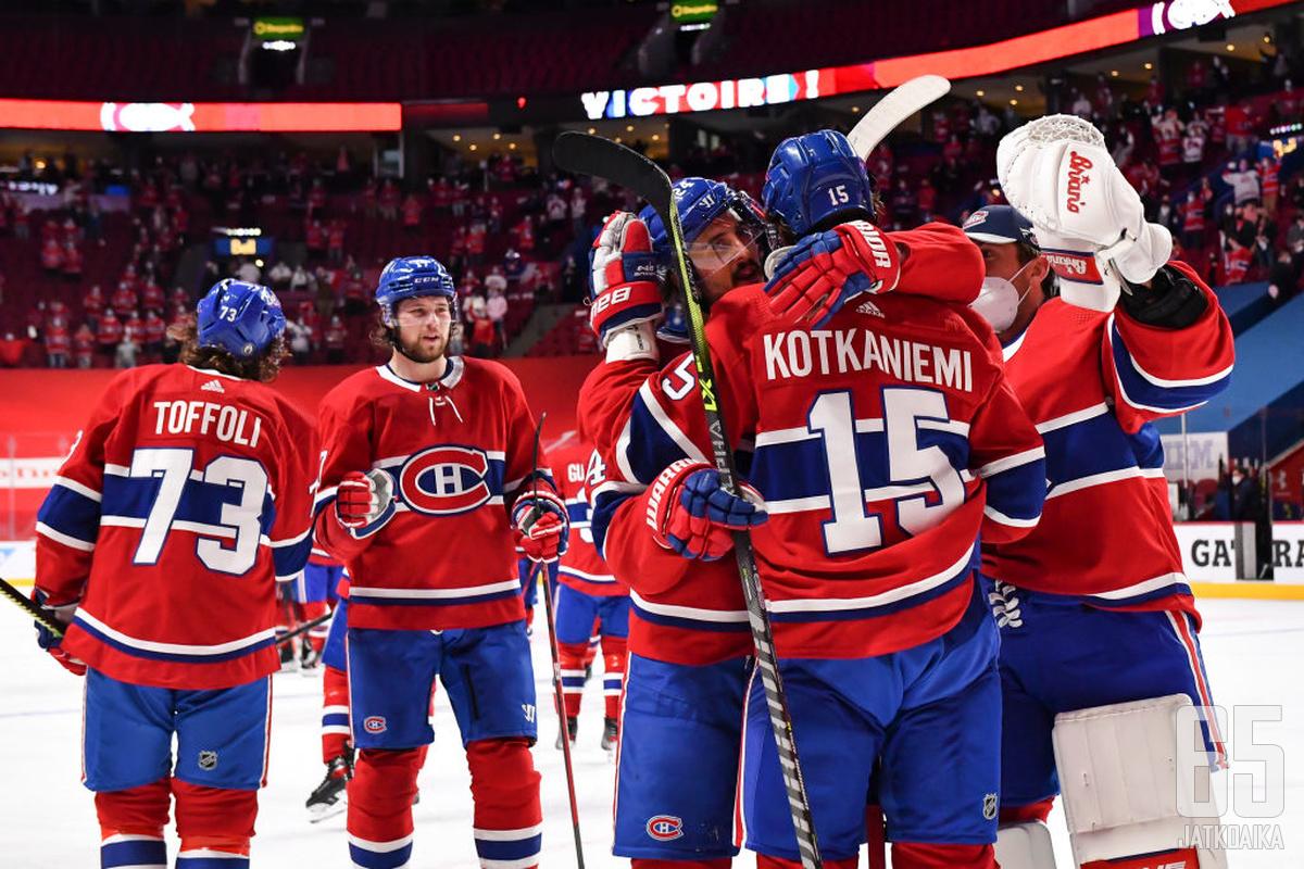 Montreal Canadiens on enää voiton päässä konferenssifinaalista.