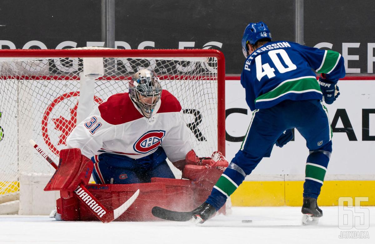 Carey Price saavutti uransa 350:nnen NHL-voiton Vancouver Canucksin kustannuksella.