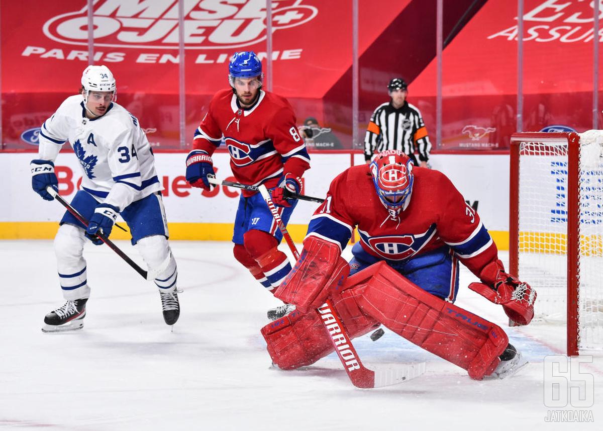 Canadiens saa avauskierroksella vastaansa Auston Matthewsin tulisen rannelaukauksen.