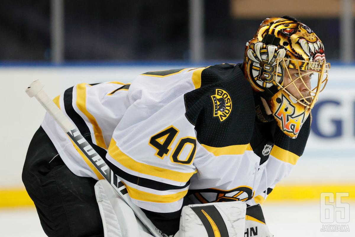 Tuukka Raskin Boston Bruins jatkaa unelmaa Stanley Cupista.