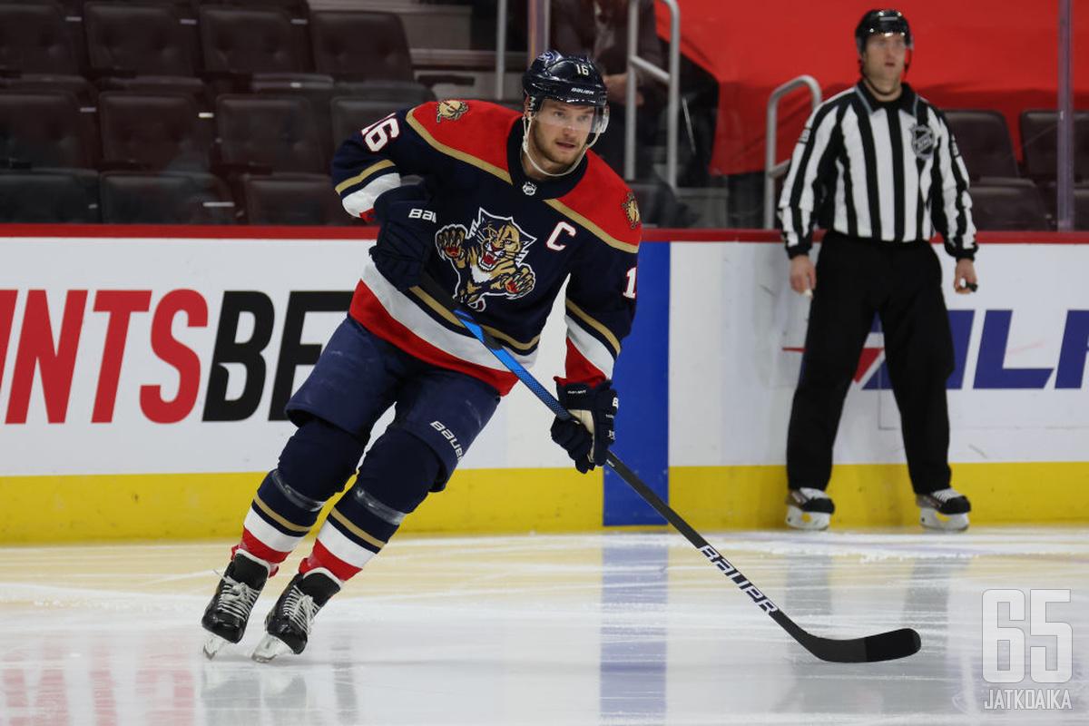 Panthers-kapteeni Aleksander Barkov on monitaituri.