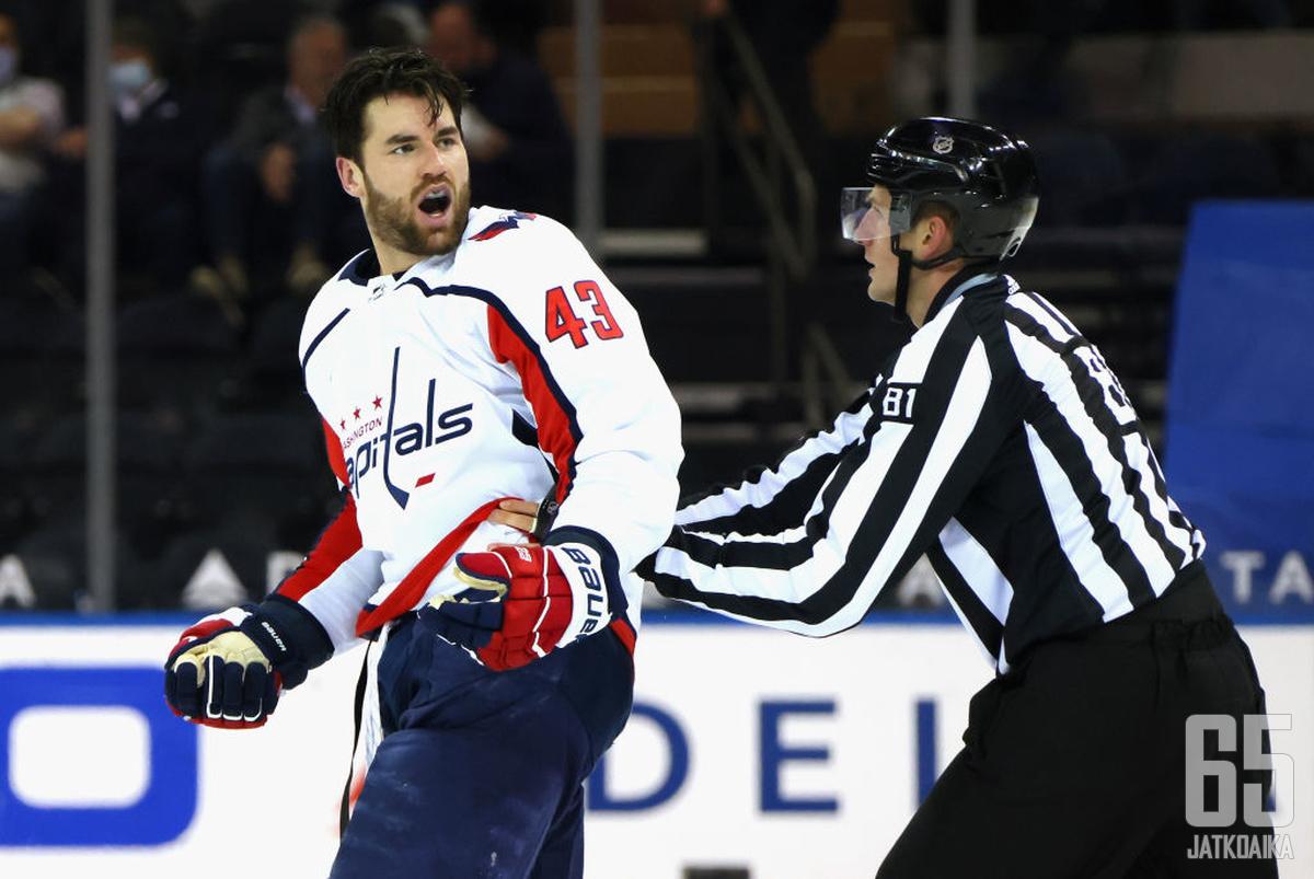 Tom Wilson kuumentaa jälleen tunteita pitkin NHL:ää.