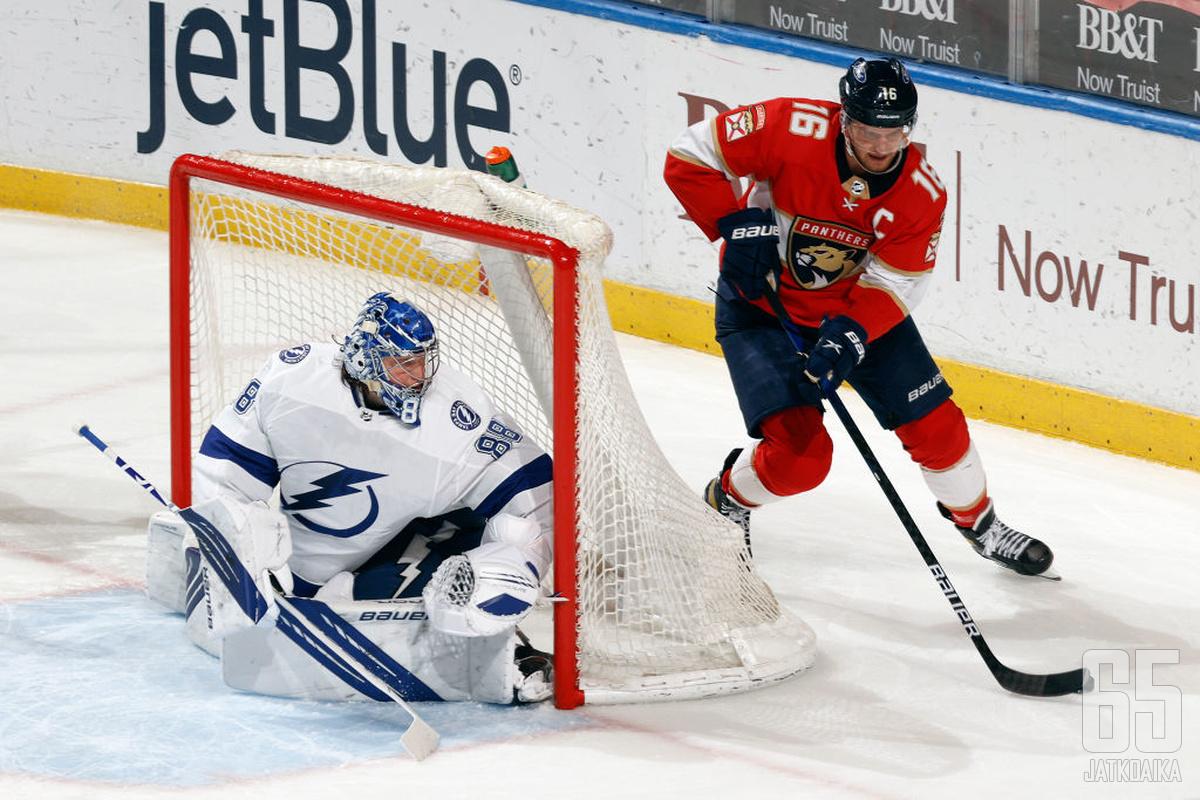 Andrei Vasilevskin Lightning on vielä itseoikeutetusti Floridan herra, mutta Aleksander Barkovin Panthers yrittää nujertaa isoveljensä vallan.