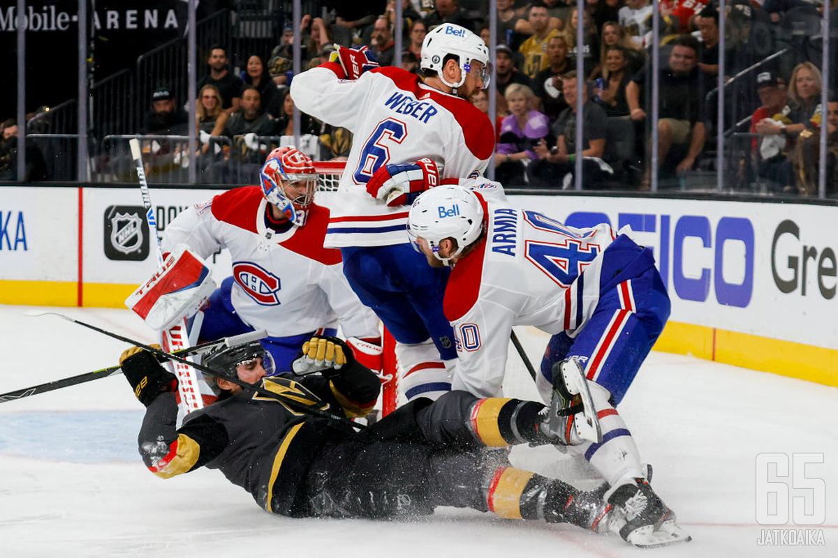 Golden Knightsin oli tunnustettava Canadiens paremmakseen kotiluolassaan. Zach Whitecloudkin jäi Shea Weberin ja Joel Armian jalkoihin.