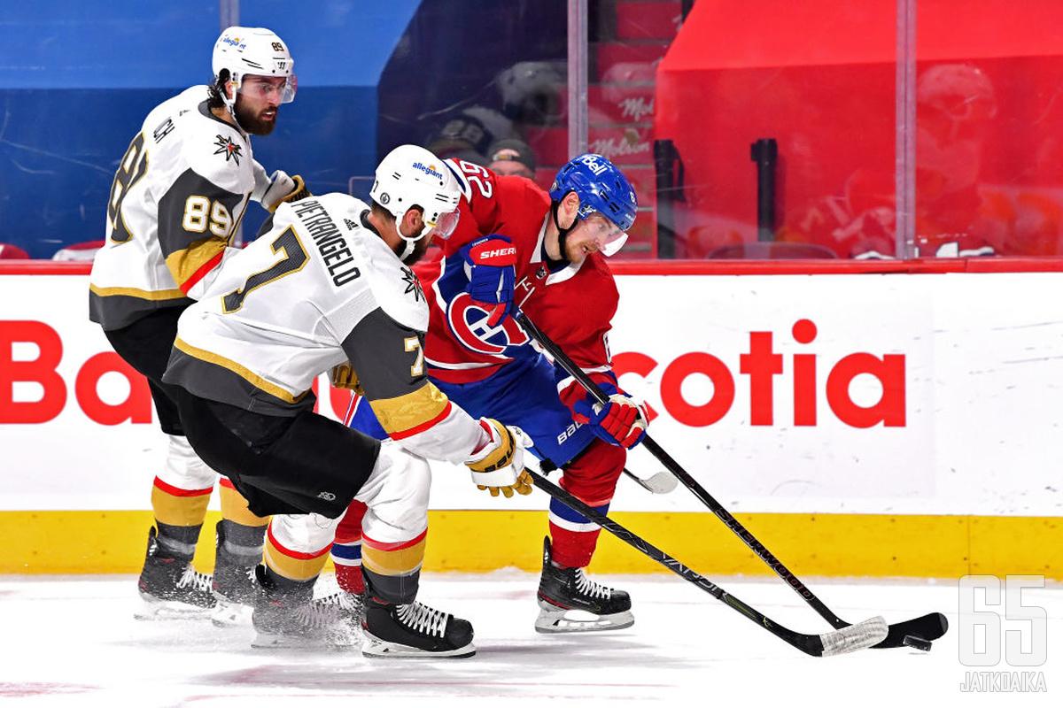 Artturi Lehkonen murtautuu Alex Pietrangelon vartioinnista ja lunastaa Canadiensin pääsylipun Stanley Cup -finaaleihin.