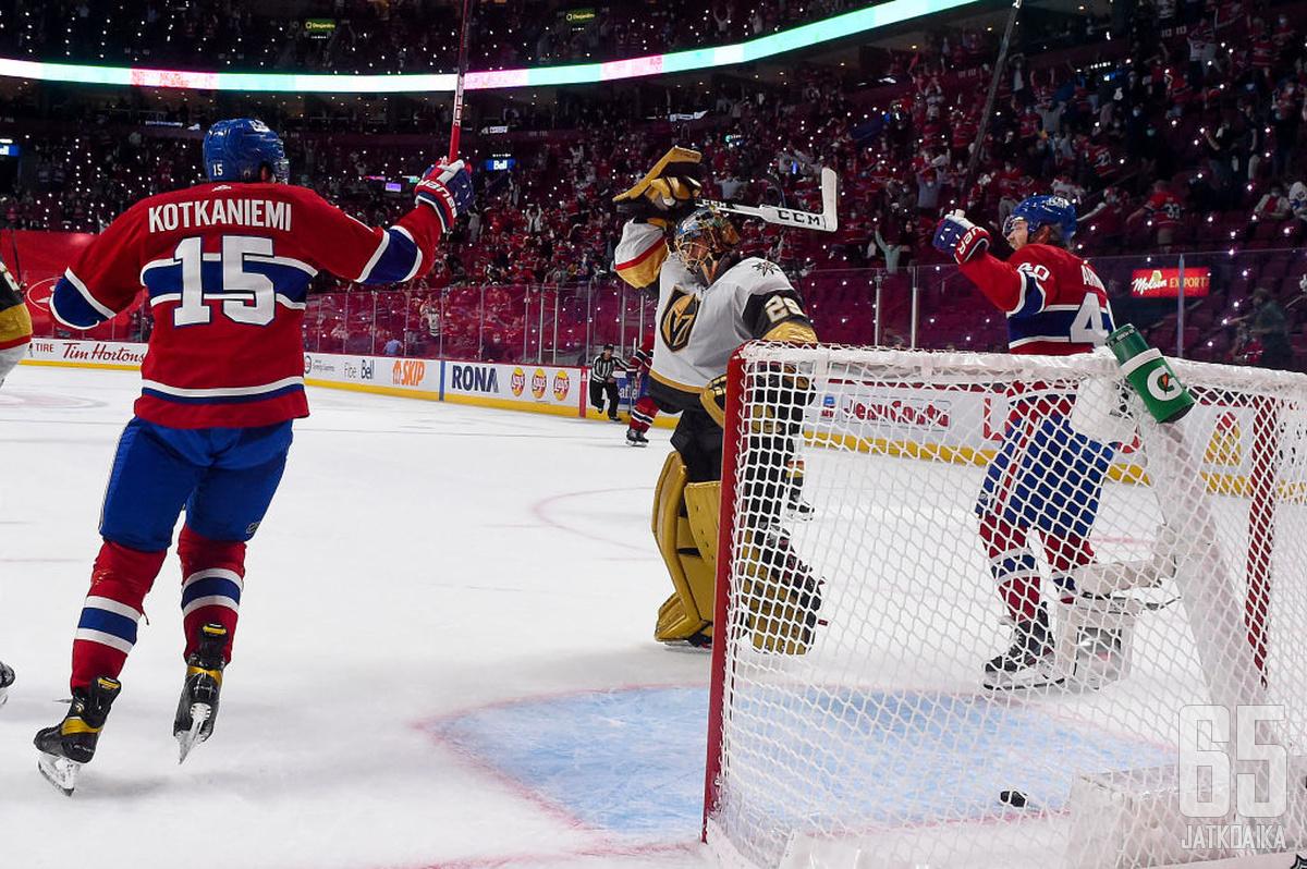 Ottelun puhuttelevin hetki on koittanut hetkeä aiemmin. Kiekko on maalissa, Canadiensin suomalaiset juhlivat, ja Marc Andre-Fleury soimaa itseään katkerasti.