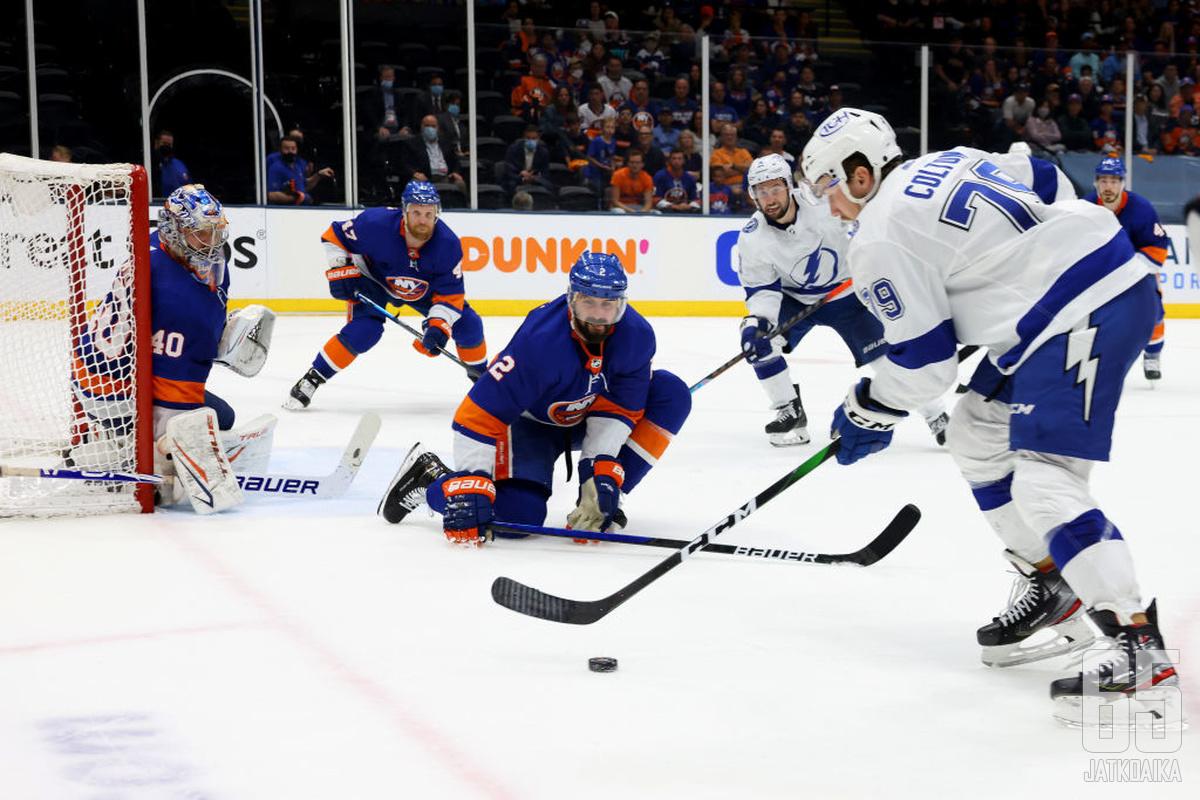Lightning jaksoi jauhaa hyökkäyksiään, mutta ottelu oli Islandersin.