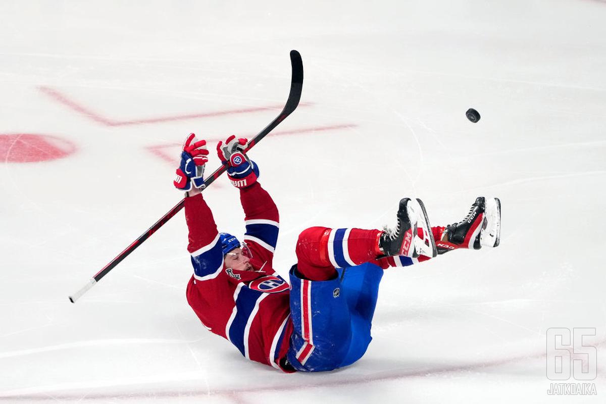 Josh Anderson sai maaleillaan Canadiensille lisäaikaa finaalisarjassa.