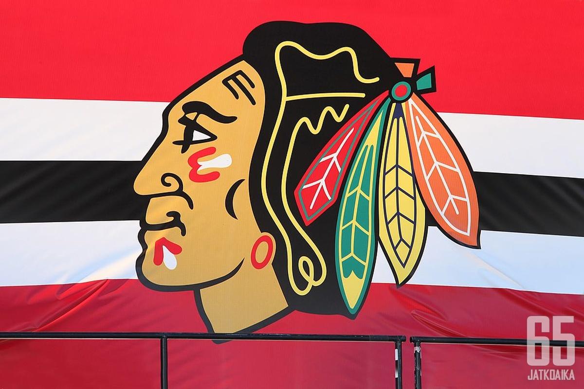 Chicago Blackhawks on esillä kaukaloiden lisäksi oikeussalissa. Kuvituskuva.