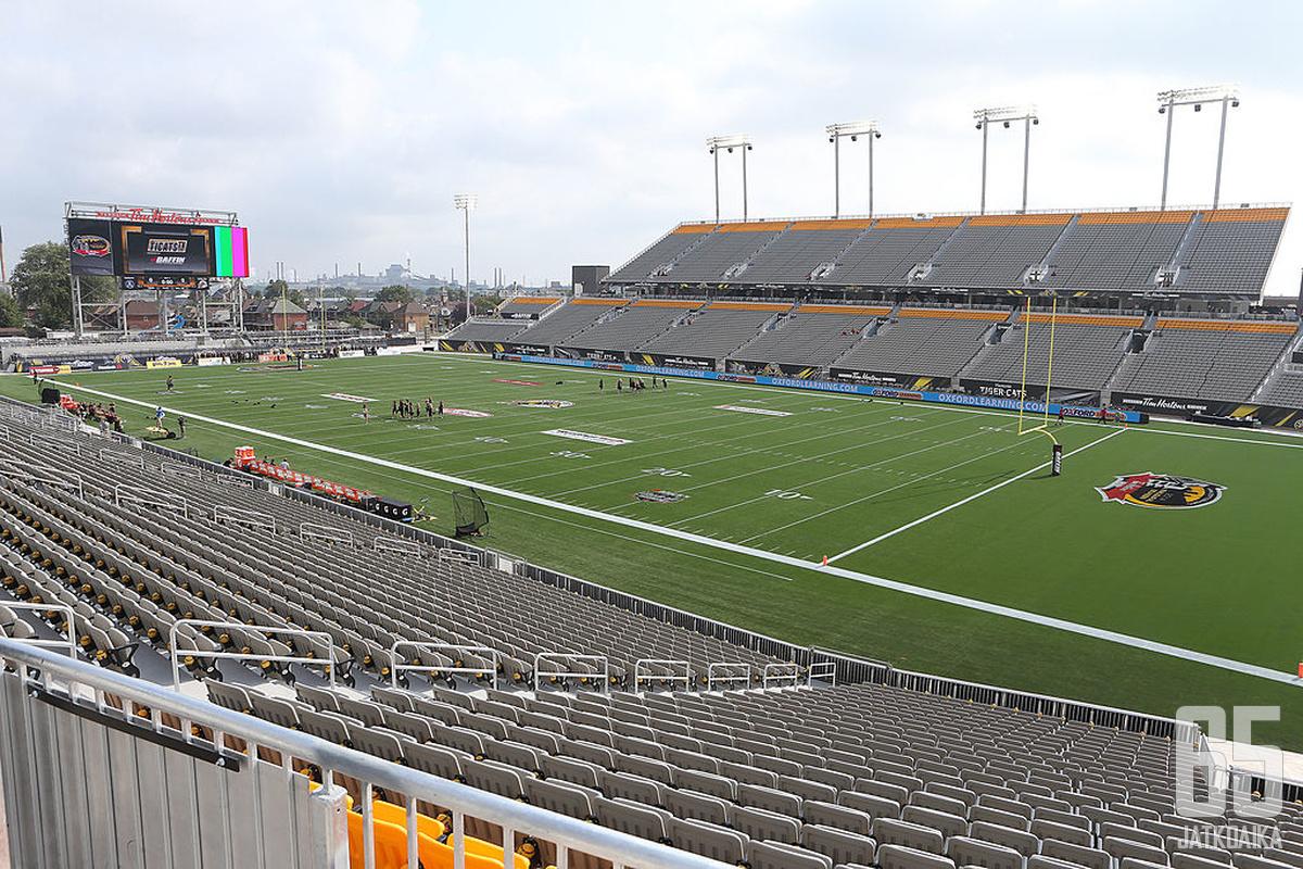 Tällä stadionilla pelataan maaliskuussa NHL-kiekkoa.