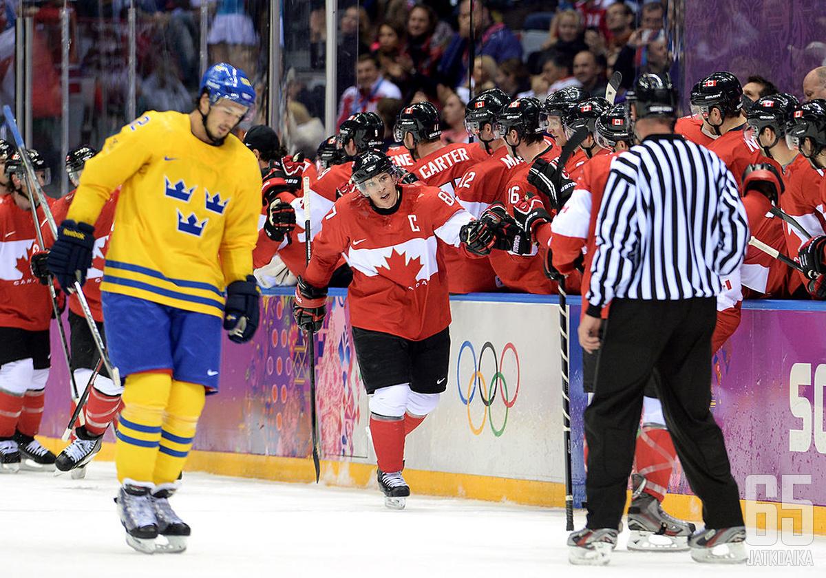 Sidney Crosby johti Kanadan kultaan Sotšissa 2014.