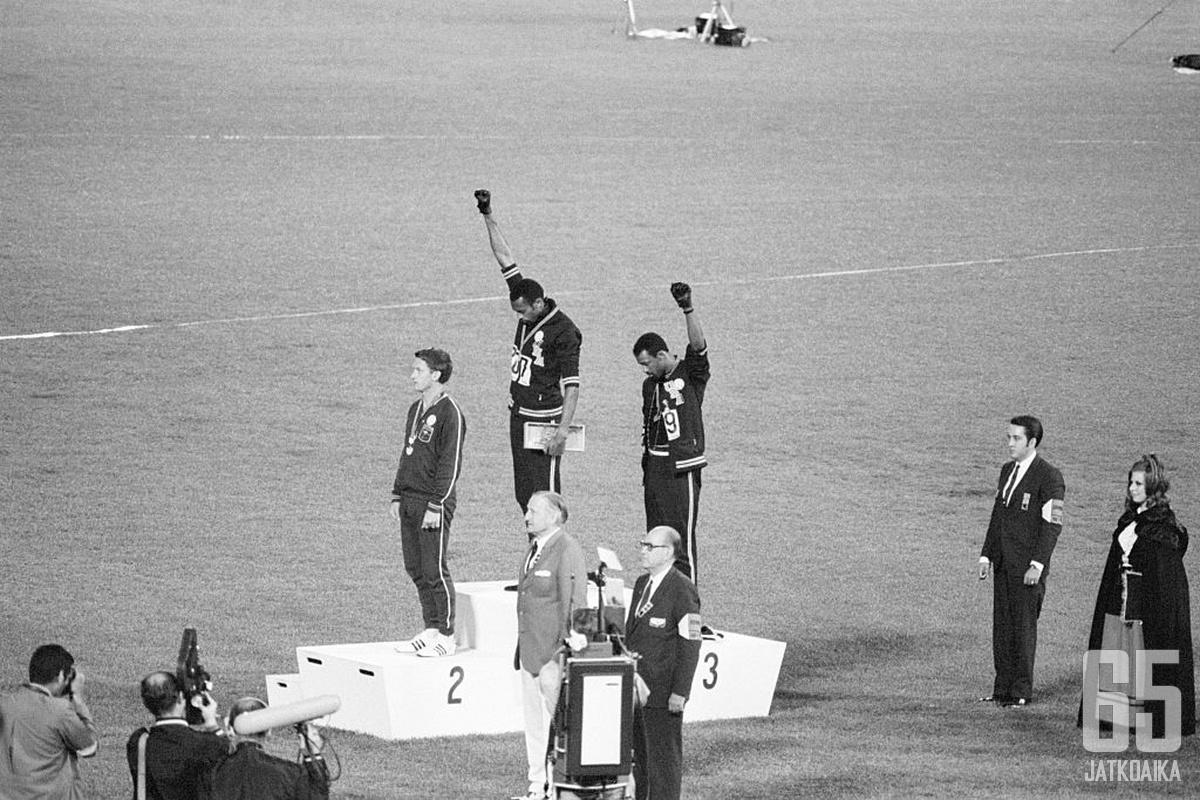 Urheilijat ovat protestoineet rasismia vastaan jo yli 50 vuotta.