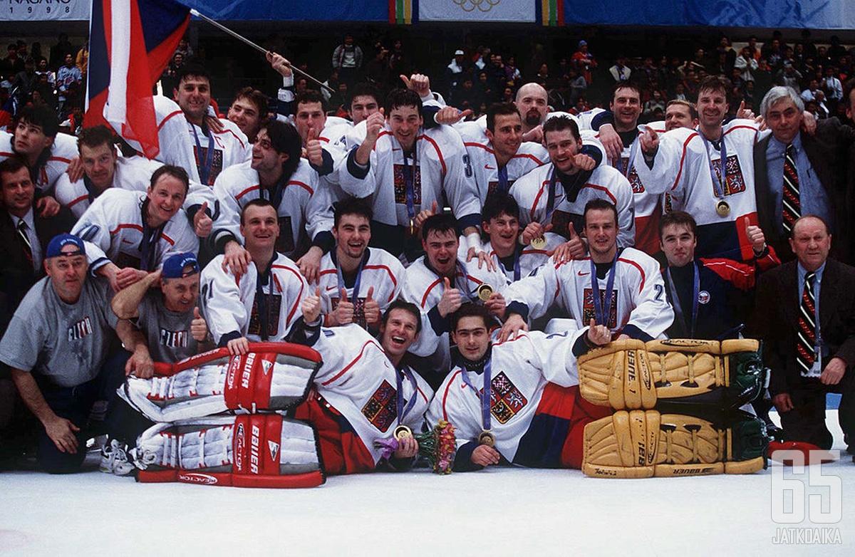 NHL-tähtien ensimmäinen olympiaturnaus päättyi tšekkijuhliin.