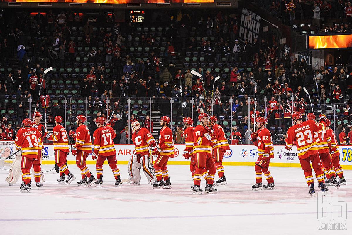 Calgary Flames taistelee pudotuspelipaikasta ennakkoon tasaisessa kanadalaisdivisioonassa.