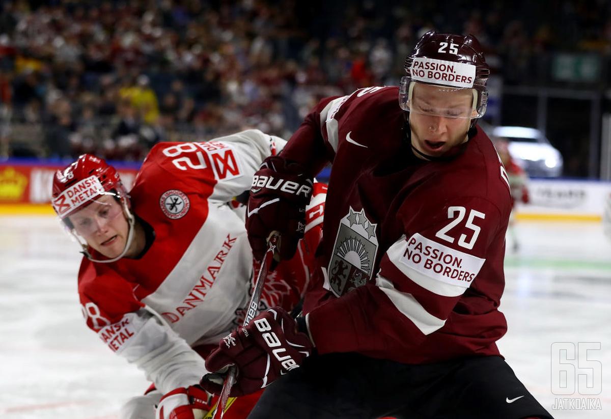 Kristensen uurasti Latvia-ottelussa liki 20 minuuttia.