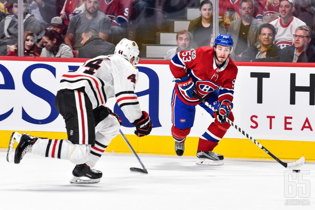 Mete on hankkinut pelipaikan Canadiensin puolustuksesta.