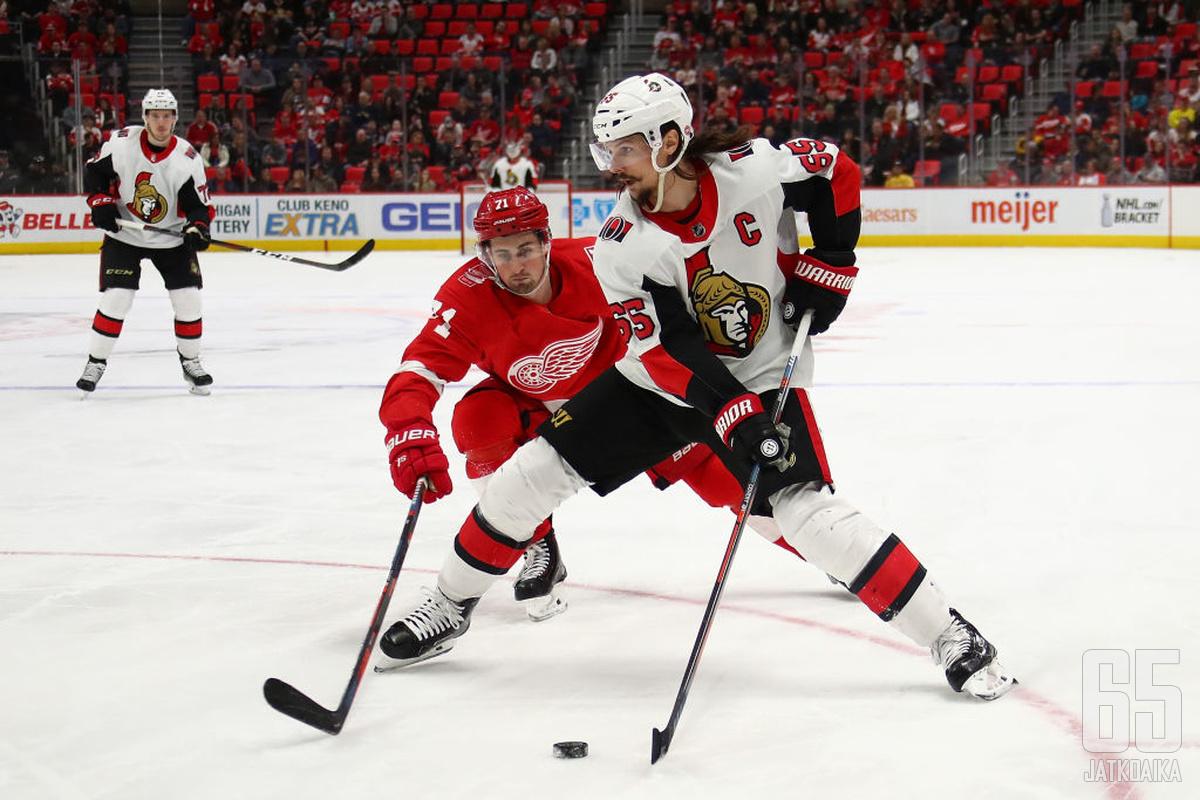 Karlsson johtaa seuraavaksi Sharksin puolustusta yhdessä Brent Burnsin kanssa.