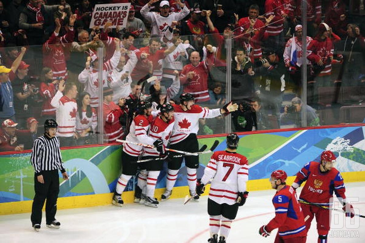 Kanada juhli olympiakultaa kotikisoissaan talvella 2010.