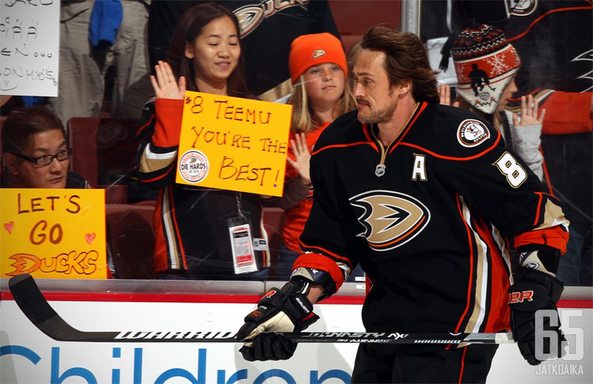 Selänteen asemaa Ducksissa ei uhkaa kukaan.