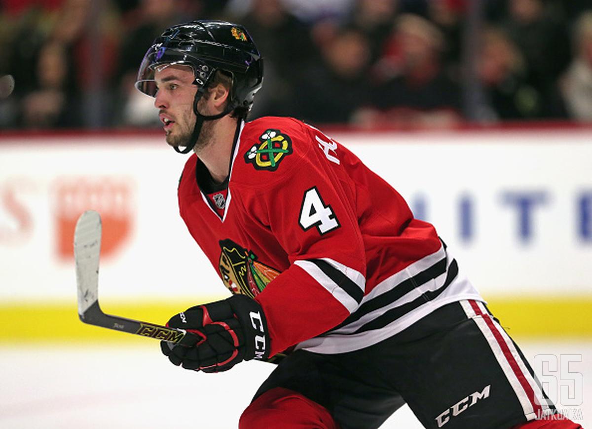Hjalmarsson menestyi Blackhawksissa.