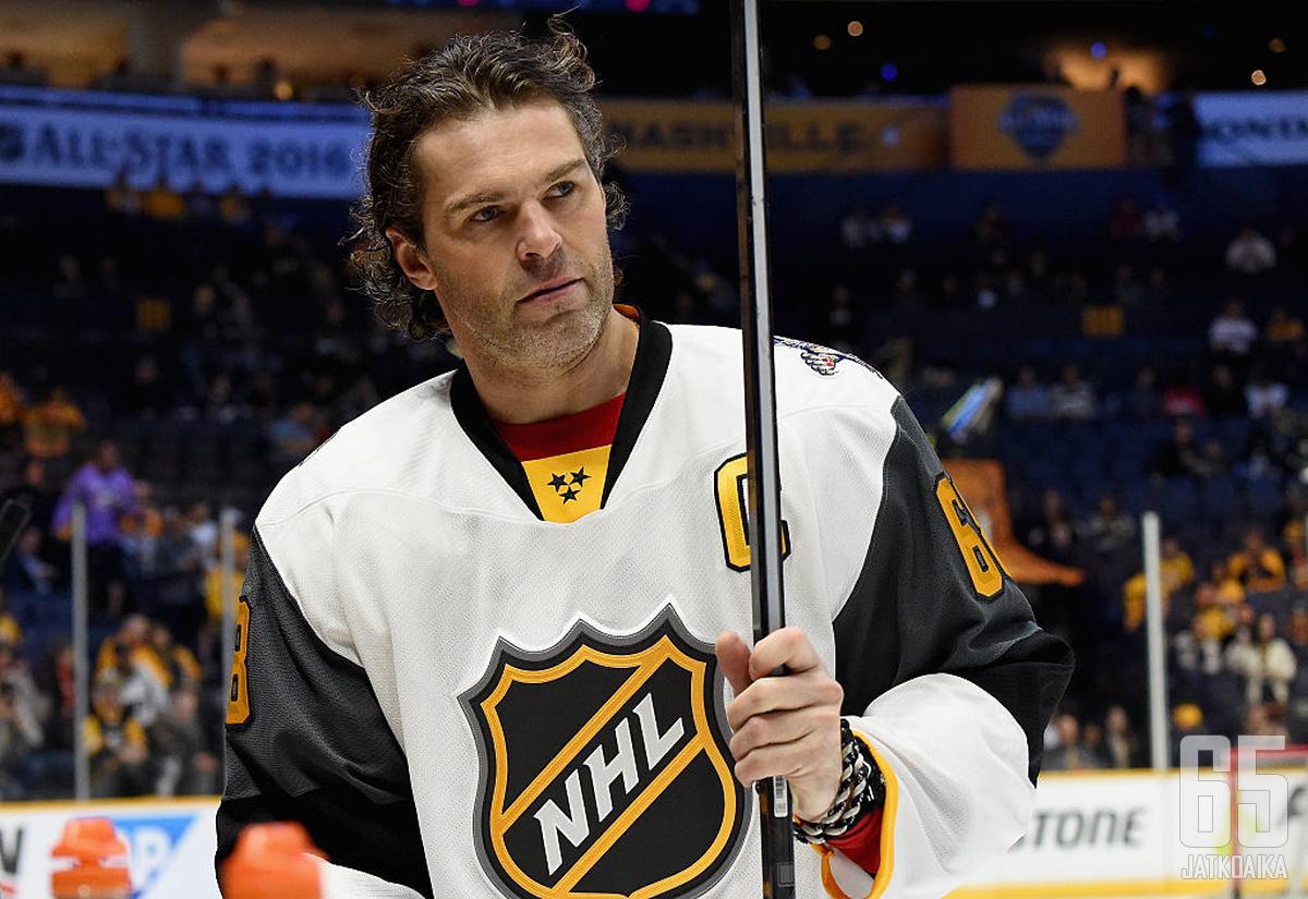 Jagr on kolmanneksi tehokkain maalintekijä NHL:n historiassa ja taito on edelleen tallella.