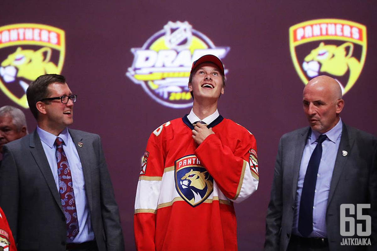 Panthers varasi Henrik Borgströmin ensimmäisellä varauskierroksella neljä vuotta sitten.