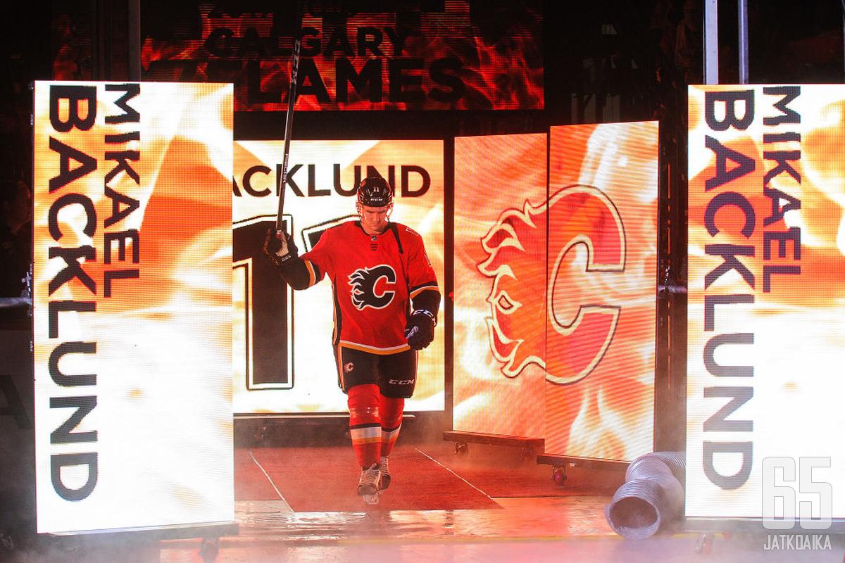 Mikael Backlund on yksi Flamesin avainpelaajista.