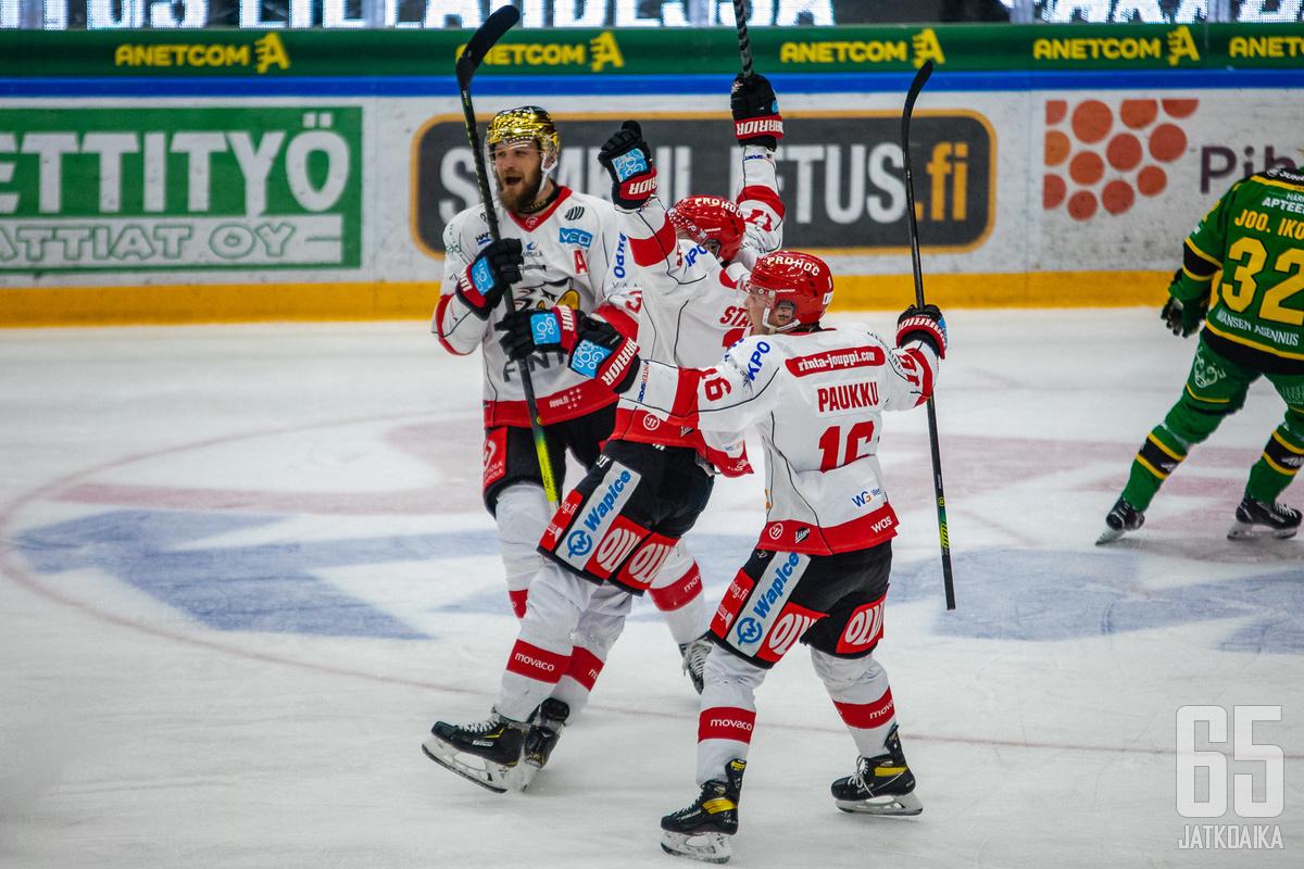 Paukku ja Virtanen olivat Sportin parhaimmistoa.