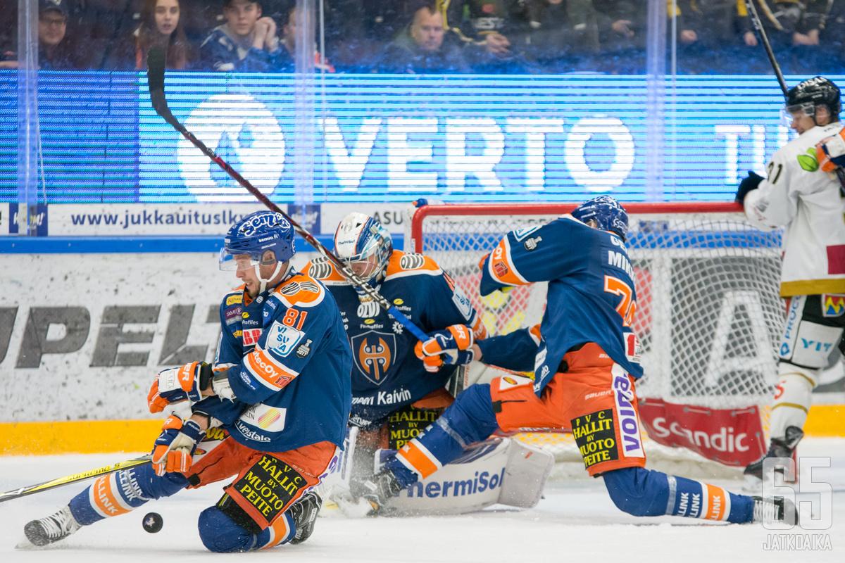 Kovavireinen Tappara saa taistella lujasti, jos se aikoo voittaa Oulussa.