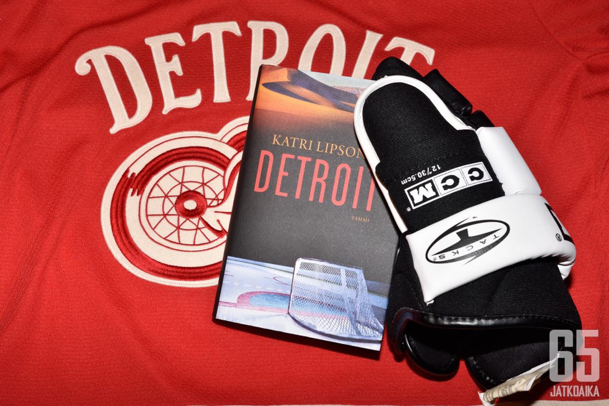 """""""Detroit"""" on fiktiivisenä romaanina harvinaisuus jääkiekkoaiheisten kirjojen joukossa."""